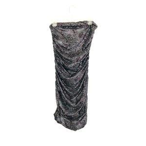 Express Women's Strapless Ruched sequin Dress 14K